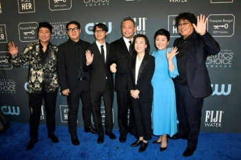 The cast and crew of 'Parasite' at the Critics' Choice Awards are seen in Los Angeles, California, in this file photo. — AFP