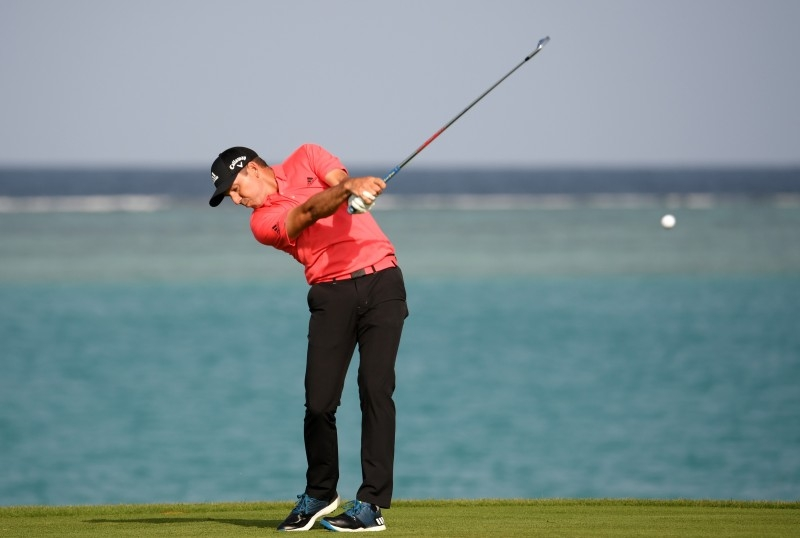 Sergio Garcia of Spain tees off on the 17th hole during Day two of the Saudi International at the Royal Greens Golf & Country Club in King Abdullah Economic City, in this Feb. 01, 2019  file photo.