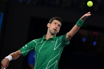 Djokovic smacked 14 aces and had a first-serve percentage of 65 percent in his grinding 7-6 (7/5), 6-2, 2-6, 6-1 win over Germany's Jan-Lennard Struff in round one.
