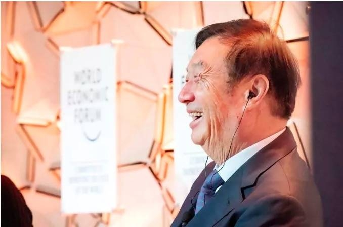 Ren Zhengfei, a Davos star this year, came to the snowy resort to highlight his company Huawei's tech strides.