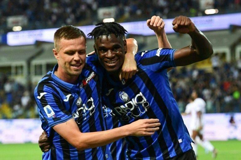Atalanta's Josip Ilicic, left, and Duvan Zapata both scored in seven-goal rout of Torino. — AFP