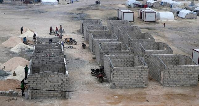 Permanent housing units that will be established in Syria's Idlib. — Courtesy photo