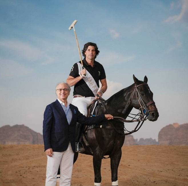 AMAALA Chief Executive Officer Nicholas Naples pictured with polo superstar Ignacio 'Nacho' Figueras. — Courtesy photo