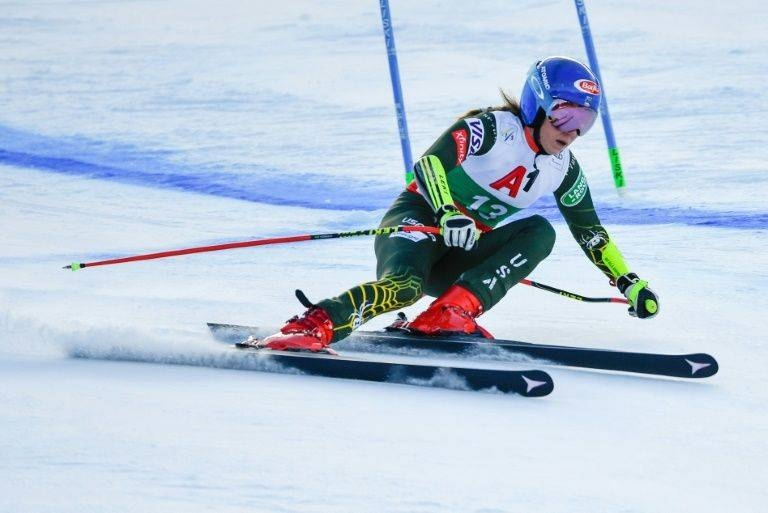 SkiingShiffrin on her way to a 66th World Cup win. — AFP