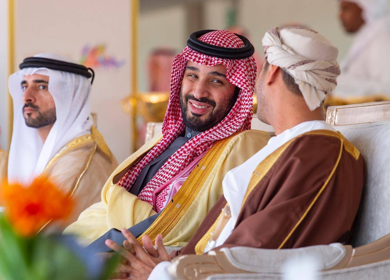 Crown Prince Muhammad Bin Salman with dignitaries from Arab states.