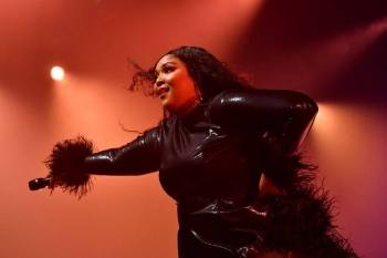 Lizzo performs onstage during Spotify Hosts 'Best New Artist' Party at The Lot Studios in Los Angeles, California, in this Jan. 23, 2020 file photo. — AFP