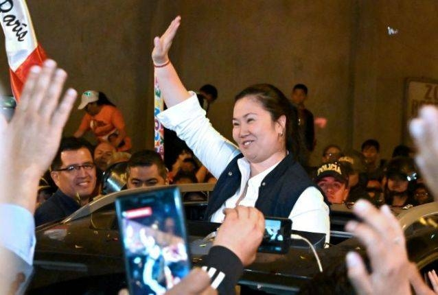 Peru's Keiko Fujimori, who led an opposition alliance into the legislative elections, is seen in this file photo. — AFP