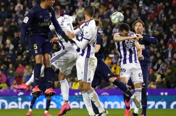 Real Madrid moved top of La Liga for the first time since October on Sunday after grinding out a 1-0 win away at Real Valladolid.
