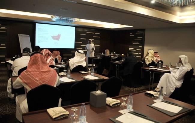 A section of the workshop of Abu Dhabi in Riyadh.