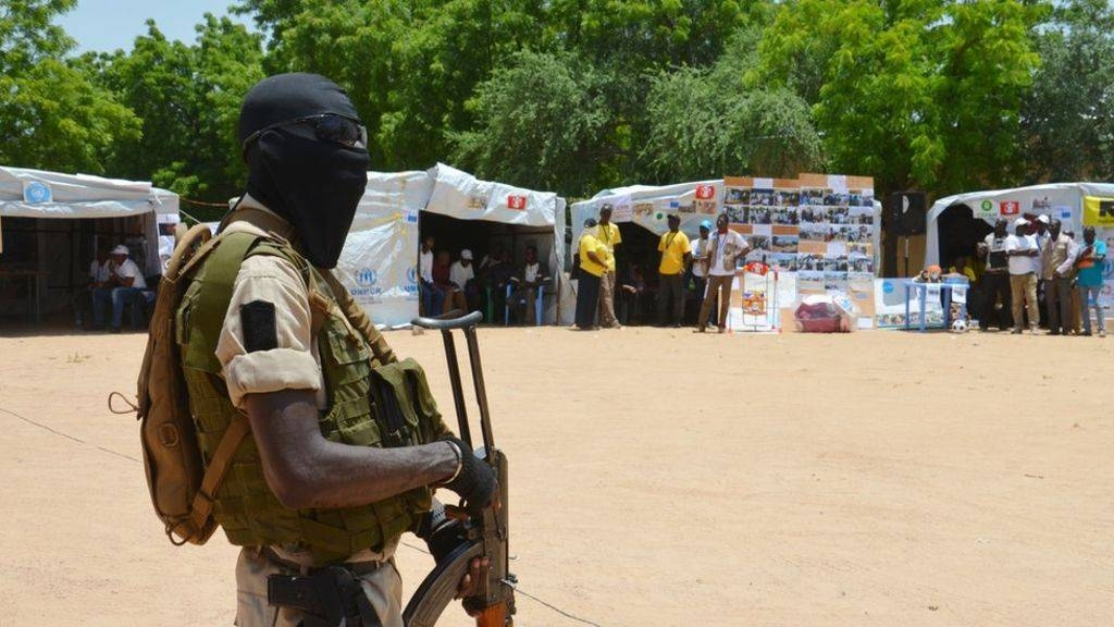 A Niger soldier stands guard at a camp in Diffa, Niger, in this 2016 file picture. — AFP