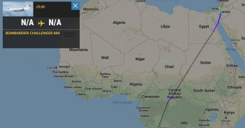 The flight path for the Israeli plane that flew over Sudan. — Courtesy photo