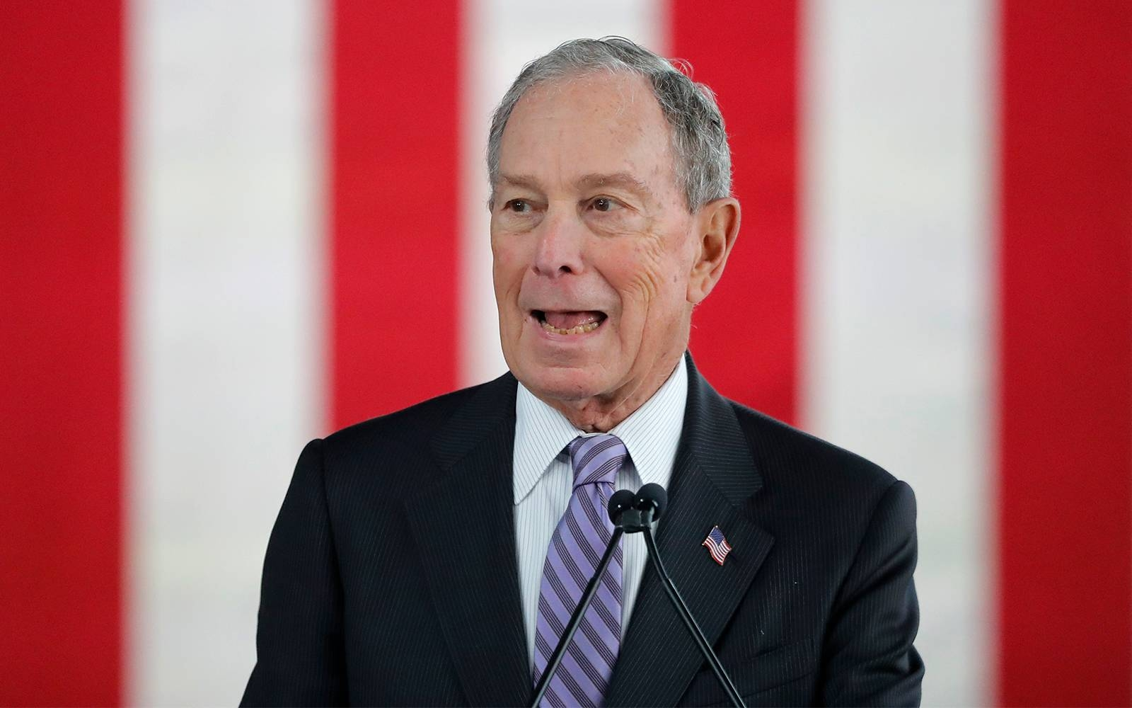 Democratic presidential candidate and former New York City mayor Mike Bloomberg speaks at a campaign event in Raleigh, North Carolina, in this Feb. 13, 2020 file photo. — AFP
