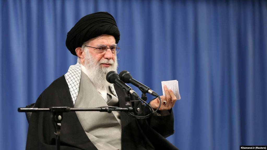 Iranian Supreme Leader Ali Khamenei speaks as he meets with a group of people in Tehran, Tuesday. — Courtesy photo