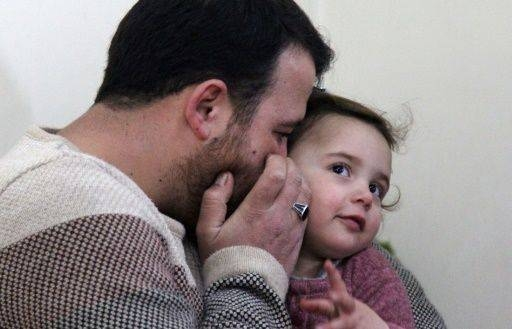 Abdullah Al-Mohammed turned the sound of shells raining down on northwest Syria into a game for his three-year-old daughter. — Courtesy photos