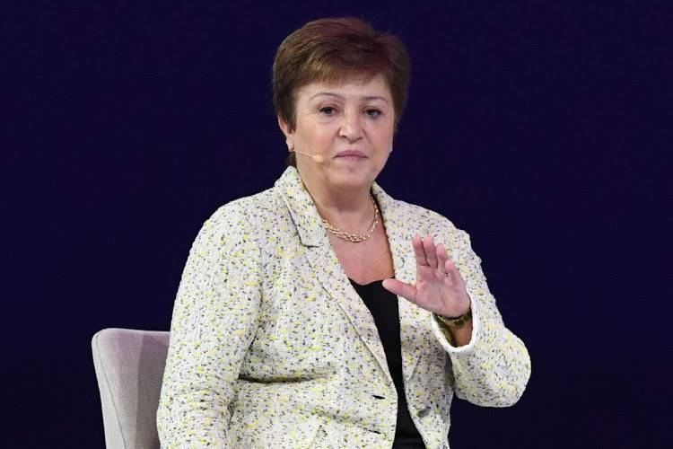 IMF MD Kristalina Georgieva speaks at the Global Women's Forum in Dubai in this Feb. 16 2020 file photo. — AFP
