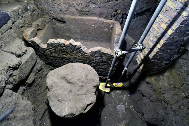 No bones were found inside the sarcophagus. —AFP