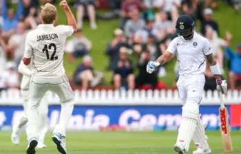 Kyle Jamieson had a dream Test debut for New Zealand with three wickets, including the prized scalp of Virat Kohli, winning glowing praise from India on day one of the first Test in Wellington on Friday.
