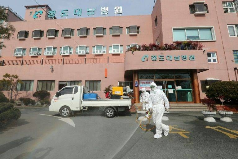 Among the new cases in South Korea, 92 were 'related' to patients or staff at a hospital. — AFP