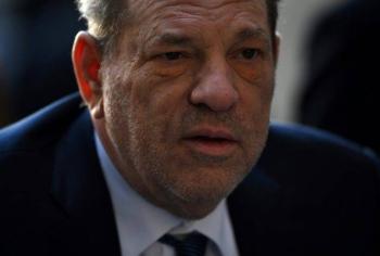 Harvey Weinstein arrives at Manhattan Criminal Court in New York on Friday. — AFP