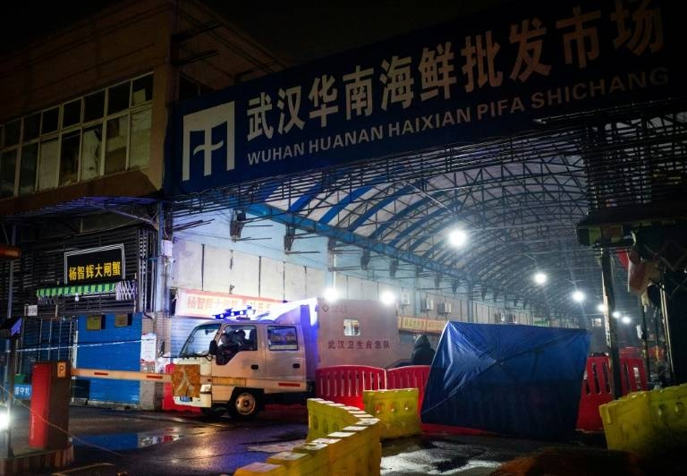 The new coronavirus is thought to have spread from Huanan Seafood Wholesale Market in Wuhan, which was shut on Jan. 1. — AFP