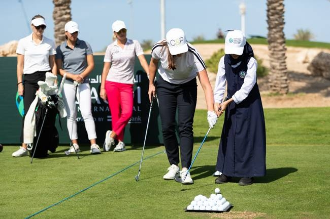 Ladies Golf Clinic prior to the inaugural Saudi Ladies International.