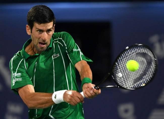 Novak Djokovic saw off Malek Jaziri in little more than an hour. — AFP