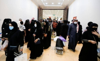 Locals wear facemasks to take precautions from coronavirus as they shop at the Bahrain's Autumn Fair 2020, in Manama. — Courtesy photo