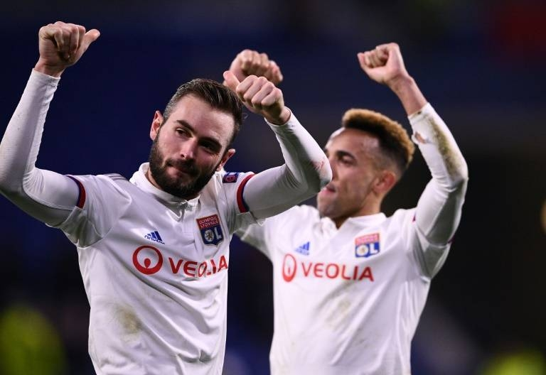 Lucas Tousart (L) scored the only goal as Lyon beat Juventus in the first leg of their Champions League last-16 tie on Wednesday. — AFP