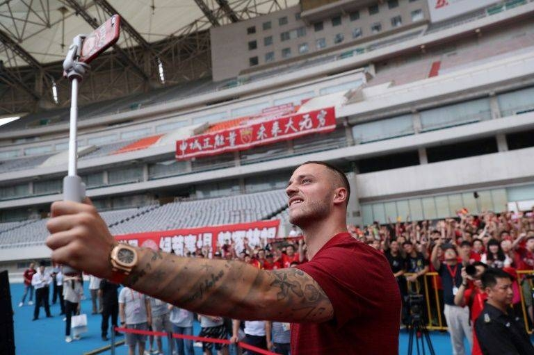 Austrian striker Marko Arnautovic left West Ham United for Shanghai SIPG in the Chinese Super League. —AFP