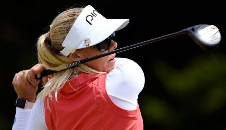 Sweden's Pernilla Lindberg who is taking on the men in the New Zealand Open. — AFP