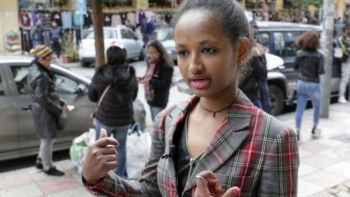 Marie, a domestic worker from Ethiopia, in the Lebanese capital Beirut. — AFP