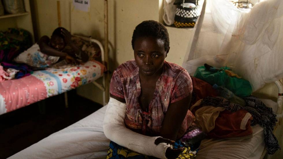 A survivor of a previous attack near Beni, Democratic Republic of Congo that was attributed to the armed group ADF. — Courtesy photo