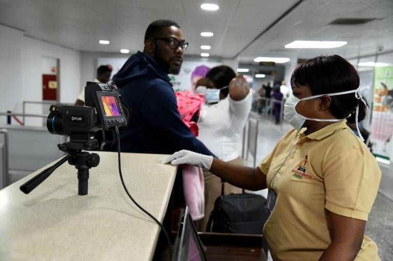 Controls have been set in place at Lagos airport. — AFP