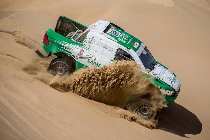 Saudi driver Yasir Seaidan is seen in action during the 2018 the Dubai International Baja. — Courtesy photo