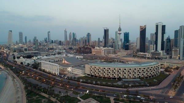 An aerial view shows Kuwait City and the National Assembly Building, after the country entered virtual lockdown, as a preventive measure against coronavirus disease. -- Courtesy photo