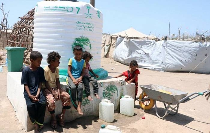 King Salman Humanitarian Aid and Relief Center (KSrelief) has continued implementing water and environmental sanitation project to preserve the lives of families in Al-Khawkhah district.