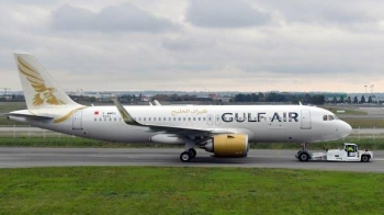 An Airbus A320-251N of Bahraini airline Gulf Air (F-WWDU 9331) is pictured at the Airbus delivery center, in Colomiers, near Toulouse, southwestern France. -- Courtesy photo