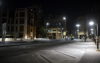 A shot of empty streets of Jeddah amid coronavirus outbreak. — SPA