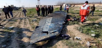 The debris of the Ukraine International Airlines, flight PS752, Boeing 737-800 plane that crashed after take-off from Iran's Imam Khomeini airport, on the outskirts of Tehran. -- File photo