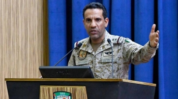 Col. Turki Al-Maliki, the spokesman of the Arab Coalition to restore legitimacy in Yemen