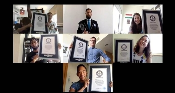 A group of six athletes based in Abu Dhabi smashed the Guinness World Records, GWR, title for most chest to ground burpees in 24 hours. — WAM