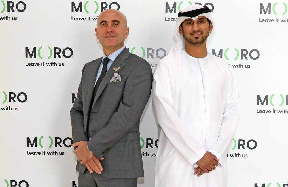 L-R - Nidal Abou Ltaif, Avaya president, Asia Pacific, Middle East, Africa and EU and Mohammed Bin Sulaiman, Moro Hub's CEO.