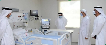 The newly established 1,500 sq. meter isolation facility is located in an area close to Dubai's Rashid Hospital. — Photo courtesy WAM