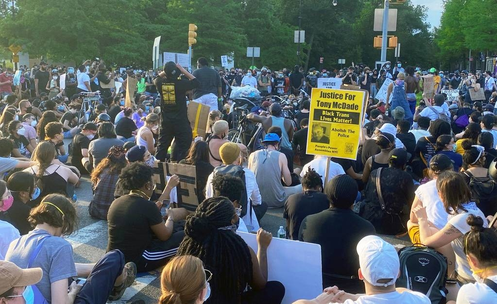 Protests against police brutality have been taking place in cities across the United States including in New York city. — courtesy UN News/Shirin Yaseen