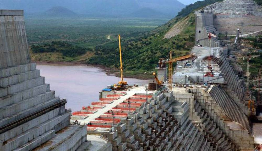 File photo shows the ongoing construction work on Ethiopia's Grand Renaissance Dam on the river Nile in Ethiopia.