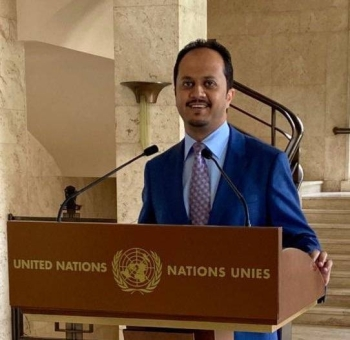 Head of the human rights department at the Permanent Mission of the Kingdom to the United Nations, Mishaal Bin Ali Al-Bluwi.