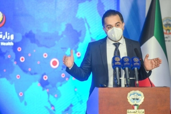 Dr. Abdullah Al-Sanad, official spokesperson of Kuwait's Ministry of Health, addresses a press briefing on Saturday. — Courtesy photo