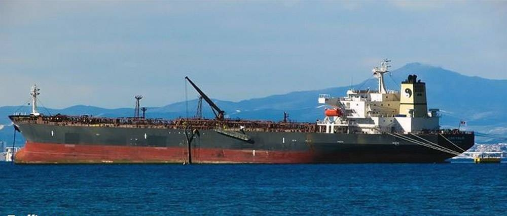 File photo of the Safer tanker moored off  the Yemeni coast.