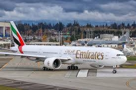 Emirates planes seen at Dubai International Airport. — File photo