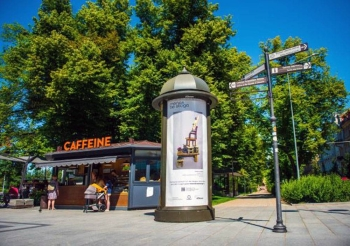 Art by Monika Radziunaite on an outdoor advertising stand in Vilnius. — courtesy photo Go-Vilnius